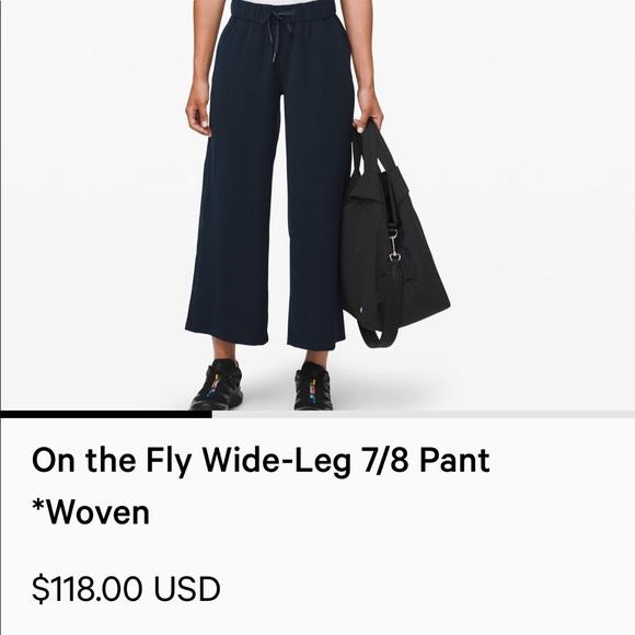 """lululemon athletica Pants - Lululemon """"On The Fly"""" Wide Leg 7/8 Pant"""